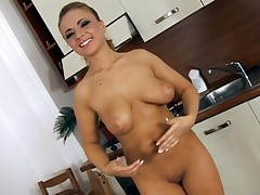 Large brassiere buddies darling is desirous to get her cookie sated and sore